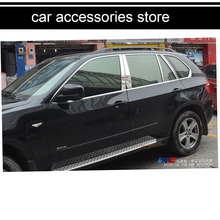 free shipping 304 stainless steel car window trim decoration for bmw x5 E70 2007 2008 2009 2010 2011 2012 2013 2014