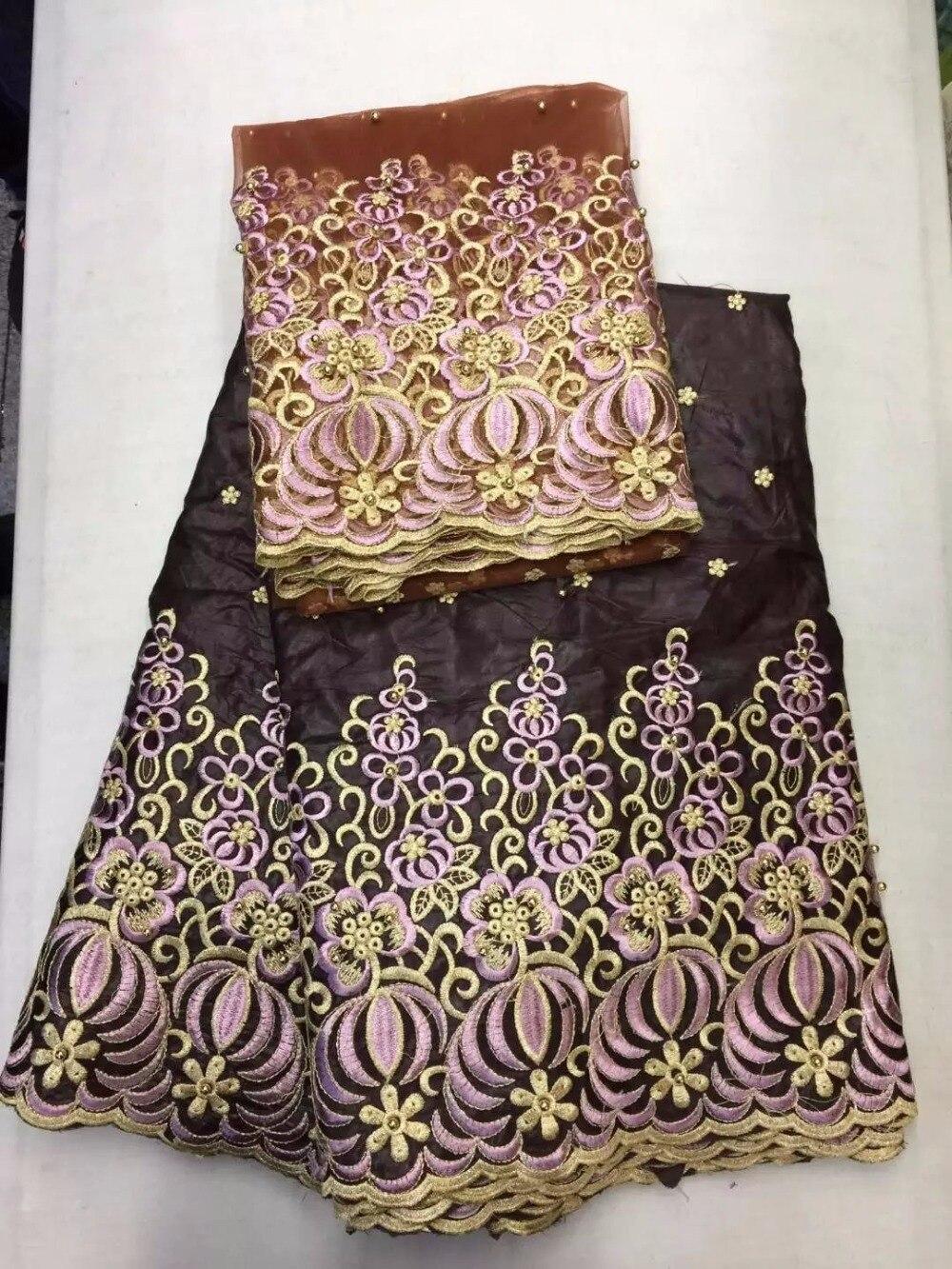 Shirt design in nigeria - 5 Yards Africa Bazin Nouveau Riche Embroidery Yarn Lace Fabric 2 Yards Shirt Nigeria Bazin Fl1992