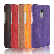 For Xiaomi Redmi Note 4X Case Hard PC+PU Leather Retro wood grain Phone 4 Cover Luxury Wood