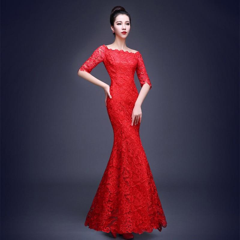 Lujo Vestidos De Encaje Rojo Para Bodas Elaboración - Vestido de ...