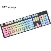 Rainbow Backlit keycap pbt cherry MX Keycaps For mechanical keyboard104 key OEM Profile