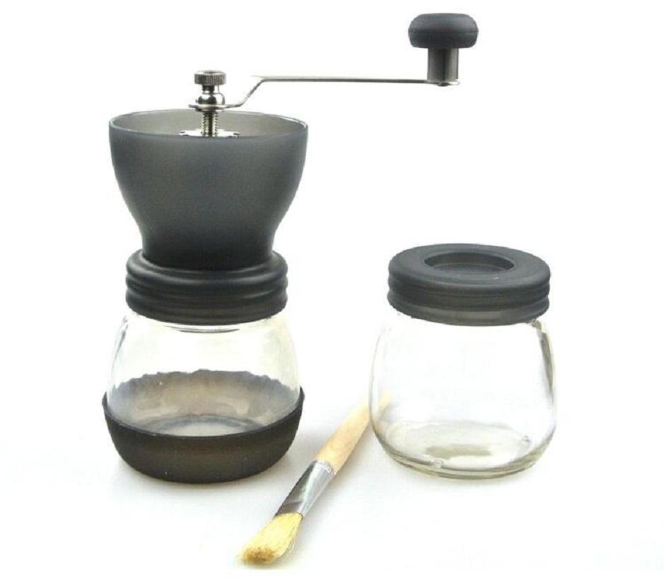 Free Shipping Manual Coffee Grinder Portable Coffee Mill Gray/Black/Red
