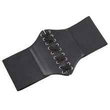 Women's Plus Size Retro Black Lace Up Corset Belt