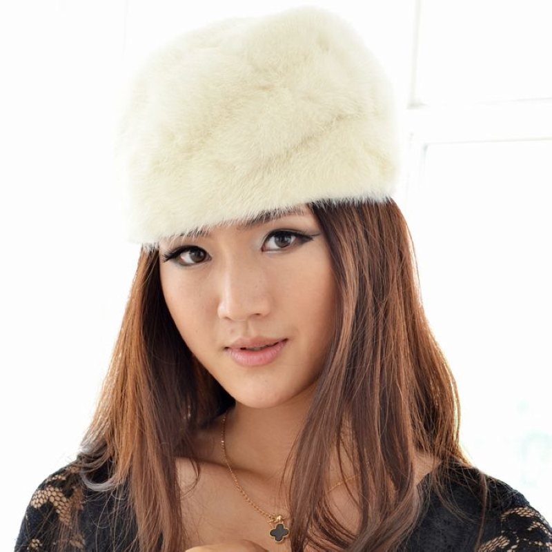 2013 Fashion new High quality Mink fur hat, Elegant Ladies' mink fur cap Noble women's fur cap beanies free shipping FCOL014 cx c 12a genunie mink fur ladies fashion hats drop shipping