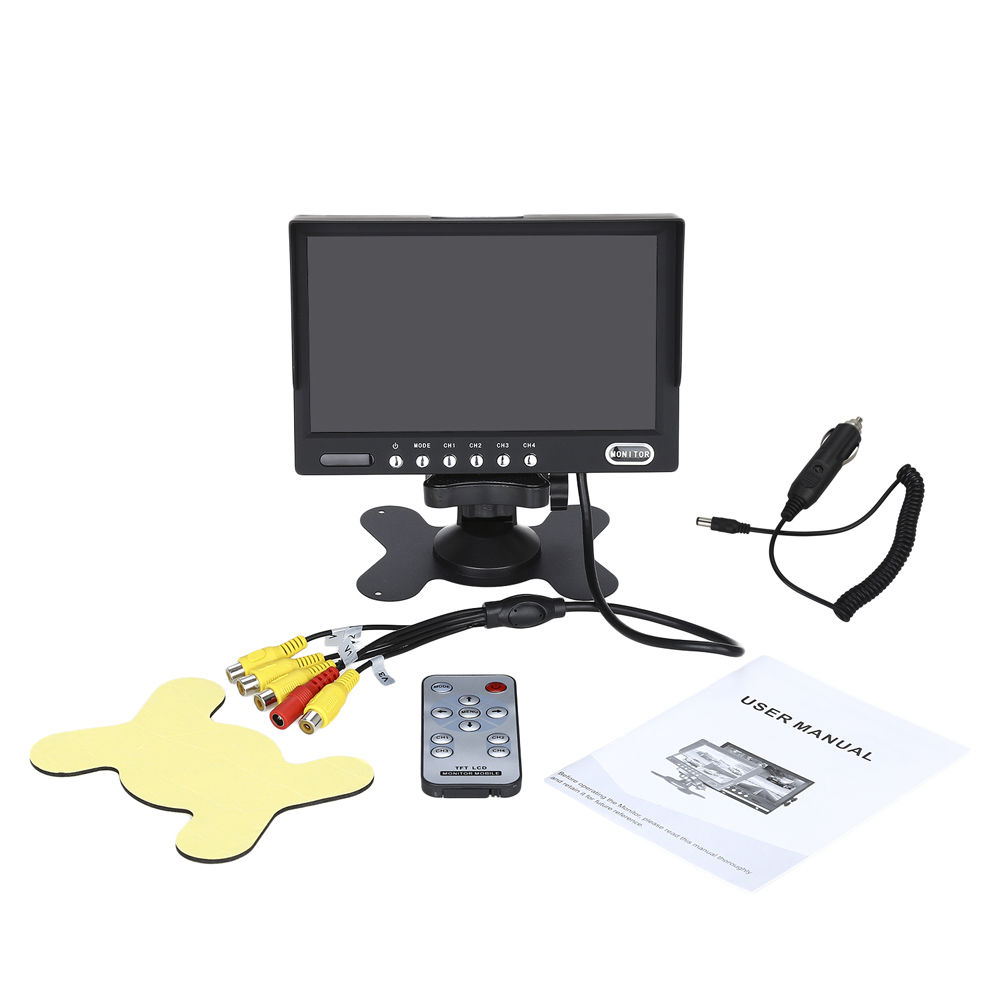 eyoyo kj 708 7 inch hd tft lcd wired car monitors split quad rh aliexpress com tft color monitor manual wireless 7 inch tft lcd color monitor manual