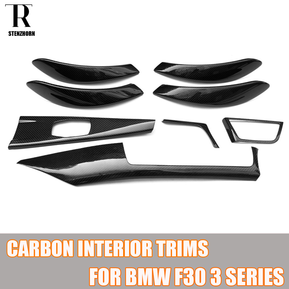 Carbon Fiber Add On Style Interior Dashboard Trim For BMW F30 Sedan F31 Wagon F34 GT F32 Coupe F36 GranCoupe Left Hand Drive