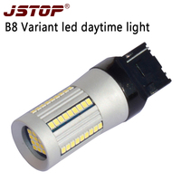 JSTOP High Quality Daytime Bulbs Car Led Daytime Running Lamp 12 24VAC WY21W T20 7440 6000k