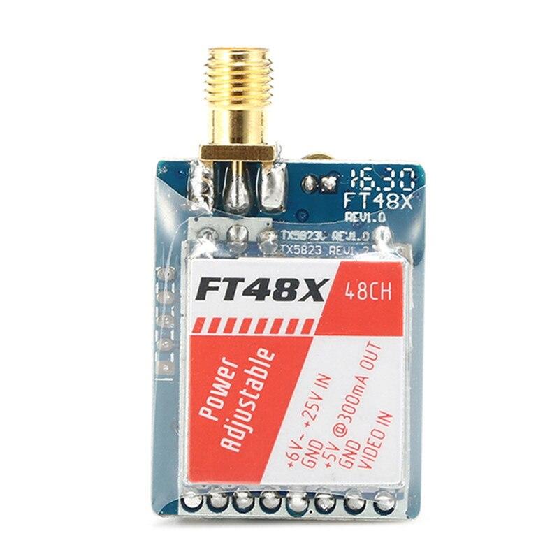Best Deal FT48X 5.8G 48CH 0.25/25/200/600mW Adjustable Video Transmitter FPV Racer VTX For Raceband 2016 best deal immersionrc 600mw 5 8ghz av transmitter for 5 8g fatshark phantom fpv multicopter