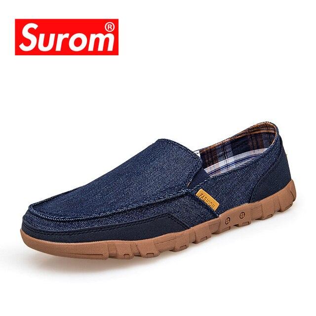 Été respirante Chaussures de toile Casual Slip-On Mocassins Mode pour hommes,gris clair,42