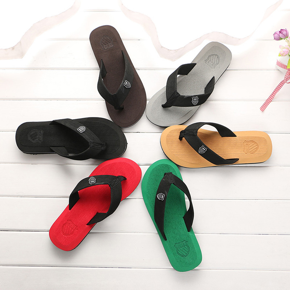 Men English Font Design Slippers Fashion Man Casual Flip Flops Indoor//Outside Shoes