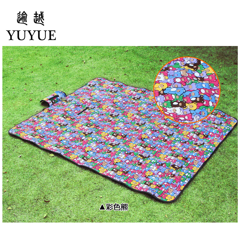 150*200cm picnic mat lovely cartoon design for baby tourist camping tent fishing picnic camping mat tourism mat pad foam fad 5