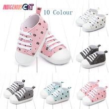 Summer Baby Shoes Infant  First Walkers Soft Sole Girl Boys Footwear 6 S Anti-slip Canvas 0-18Month