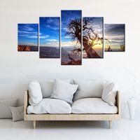 שמש נוף תמונת הגדרת גדול הוא בעקבות עץ מת יצירות אמנות עיצוב אמנות קיר חדר קישוט למשרד חינם