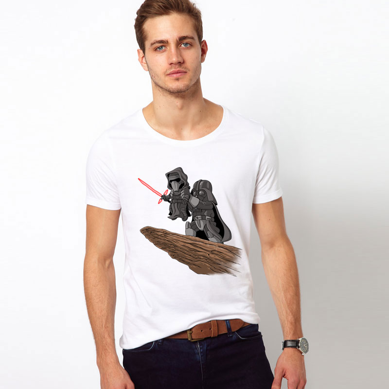 Fashion Men star wars customized t-shirt The Darth King retro printed cool tops short sleeve o-neck casual tee shirts