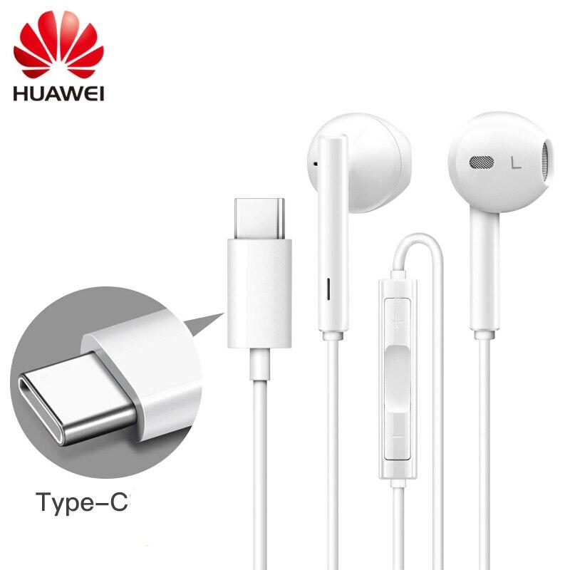 Huawei Klassische Kopfhörer Cm33 In-ohr Typ-c Anschlüsse Headset Mit Stereo Für Huawei Handys Mate 10 P20 Pro Ehre 9 10 KöStlich Im Geschmack