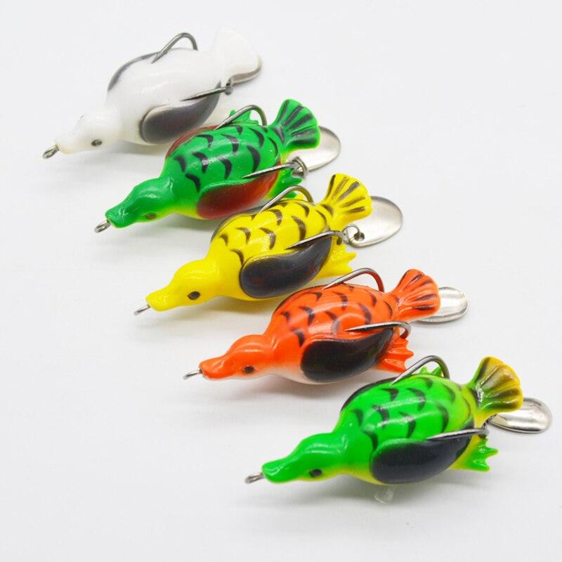 5 PCS 13g 6.5cm artificial bait sinking duck soft baits wobbler frog lure