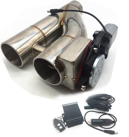 2.5 pouce 3 pouces en acier inoxydable doublé valve tuyau silencieux Catback dérivation échappement garniture vers le bas Tube télécommande YTR