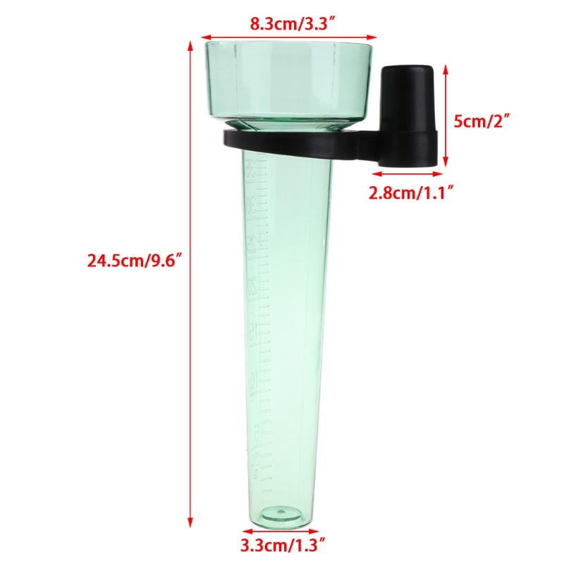 Polystyrene Rain Gauge Up To 35mm Measurement Tool For Garden Water Ground