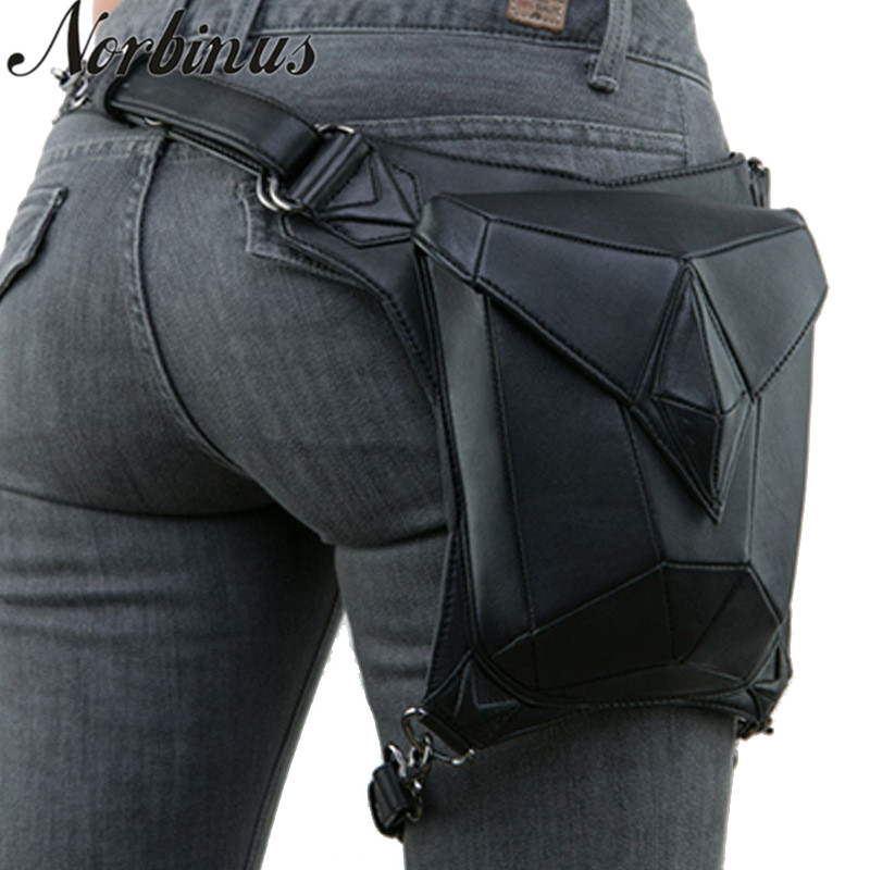 Norbinus Women Steampunk Waist Leg Bags Men Victorian Style Holster Bag Motorcycle Thigh Hip Belt Packs Messenger Shoulder Bags