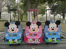 Mickey Minnie Mouse children school bags with wheels backpack child mochila infantil trolley bags shoulder kid