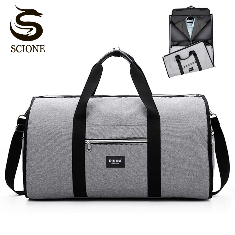 Hot WaterProof Men Travel Handbag Luggage Bags Business Large Suit Duffle Bag Multifunction Portable Travel Storage Shoulder Bag