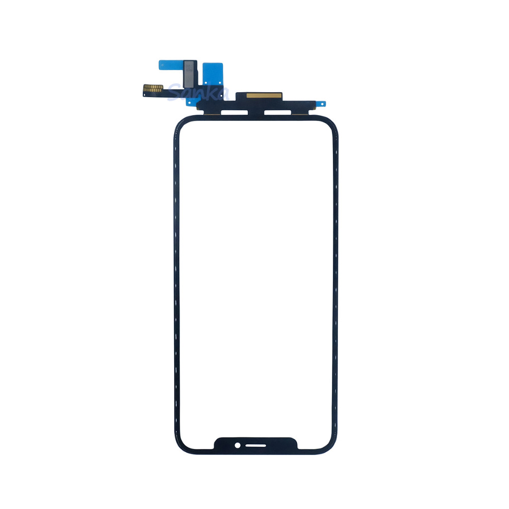 SANKA for iPhone X Touch Screen Sensor Panel Digitizer Front Glass Lens 5.8 Outer Panel With Flex Cable Assembly Replacement