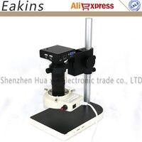 HD 1080 P Электроника промышленности цифровой микроскоп с камерой разъем HDMI VGA встроенный Профессиональный измерительный программное обеспеч