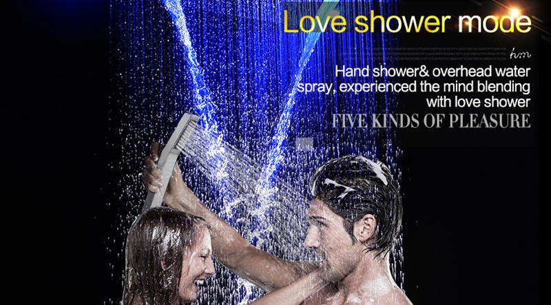 Luxury Led Rain Shower Head Large Rain LED Shower Set with Waterfall Shower Head with Embedded Ceiling 600x800 Rainfall Spout (13)