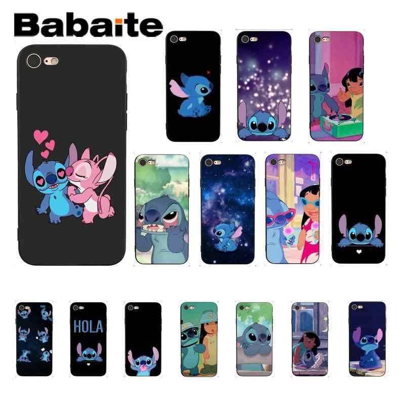 Babaite lilo stitch luxo design exclusivo phonecase para iphone 8 7 6 s plus x xs max 5 5S se xr 10 capa de concha coque