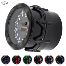 52MM 2 Inch Dual Display  12V 0~10000RPM Universal Car Tachometer 7 Color Backlight
