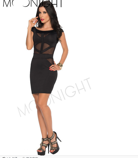MOONIGHT 2019 New Black Women's Sexy Dress Evening Fashion dress party evening elegant
