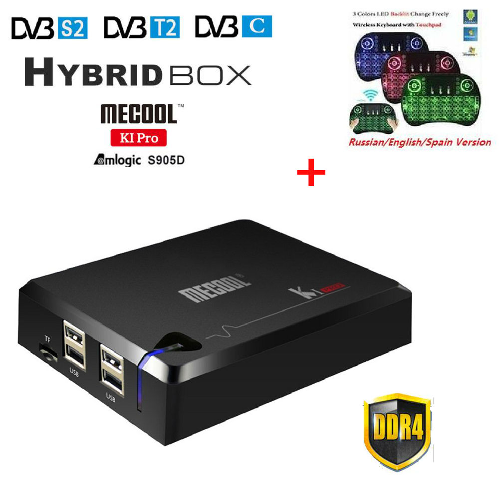 MECOOL KI PRO Android 7.1 TV Box KI pro Amlogic S905D Quad Core 64 bit DVB-T2 DVB-S2 DVB-C 2G 16G Set Top Box CCCAM NEWCAMD sniper elite 3 ultimate edition игра для xbox one