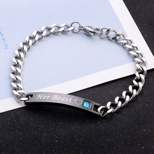 New Style Concise Fashional Couples Beautiful Personality Elegant Alloy Material Bracelet