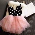 2016 Новый Девочка Платье Мода Симпатичные Минни Маус Платья Детская Одежда Малышей Туту Платье