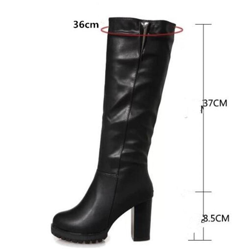 Nuevo Alto Moda Cálido Señora Botas Terciopelo Tubo Mujer Altas Grueso Con Otoño Más Casual Zapatos 01 De E Elgeer Invierno vqY4qnW