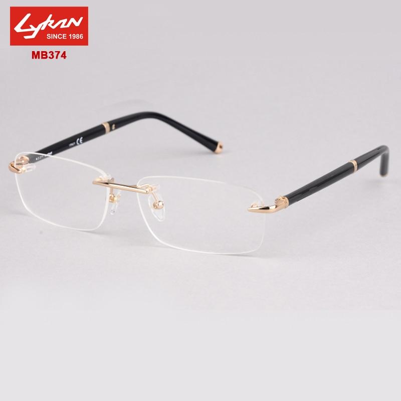 New Fashion MB374 Brand rimless eyeglasses frames designer for ...