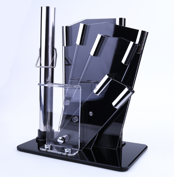 Creative Acrylic Knife Holder Organizer Stainless Steel Knife Stand Kitchen Accessories Practical Knives Block Cooking ToolLF444