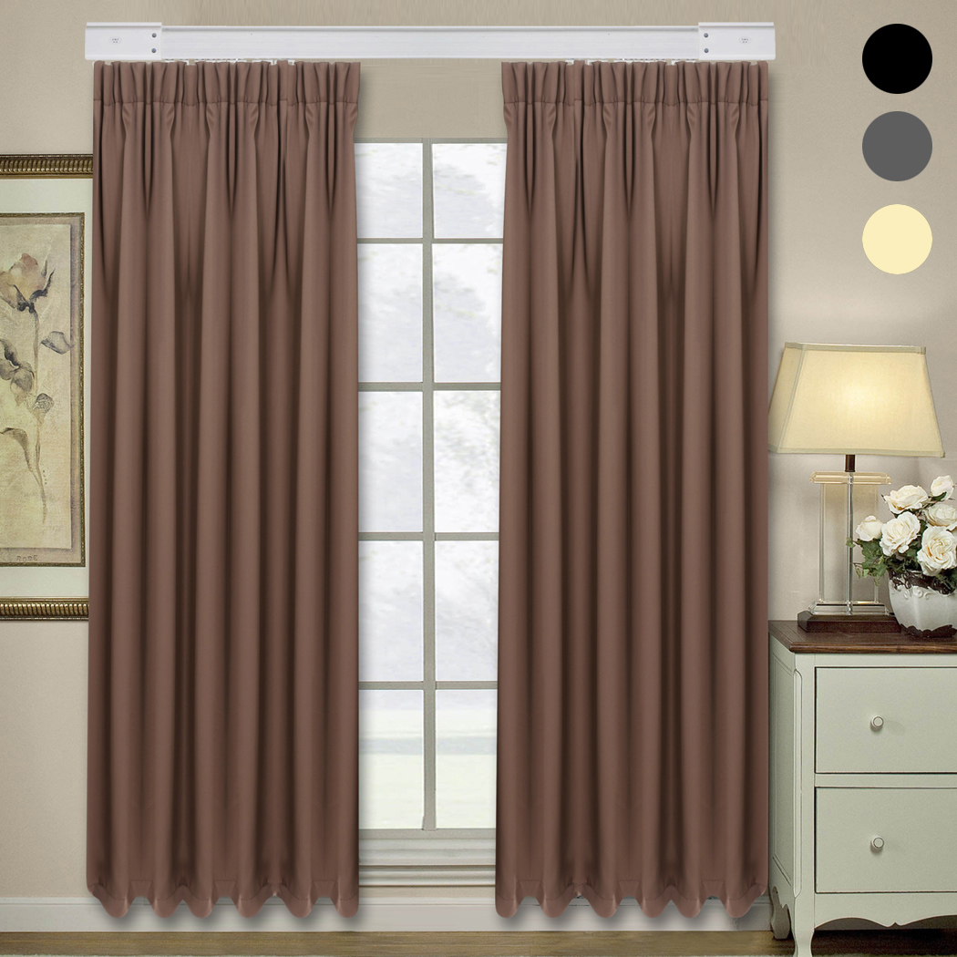 Curtain window curtains for living room bedroom blackout curtains - Homdox 2 Panel Rustic Window Curtains For Living Room Bedroom Blackout Curtains 214 X 132cm