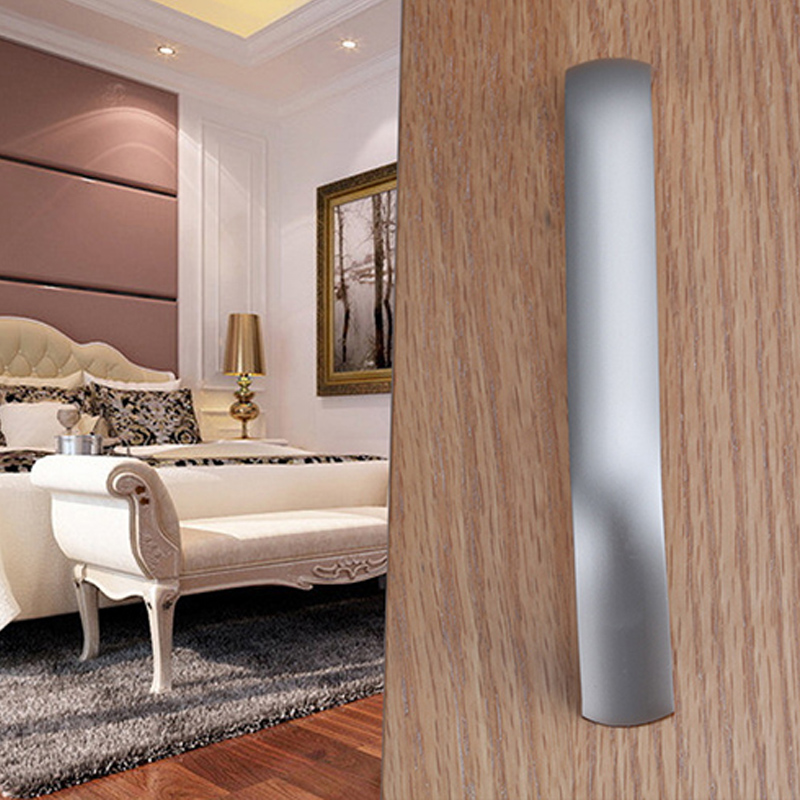 Купить с кэшбэком AOBITE Modern Minimalist Style Long Aluminum Cabinet Kitchen Drawer Pulls Furniture Door Handles Knobs Bath Closet Dresser 233