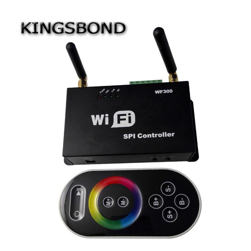 Livraison gratuite Smartphone Conrtrol WiFi 300 LPD 6803 WS2811 WS2801 LED contrôleur de bande écran tactile LED de contrôle à distance