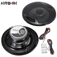 Universal 2X 6 Inch 12V 400W Car Subwoofer Max Iron Plastic 2 Way 2 Voice Coaxial