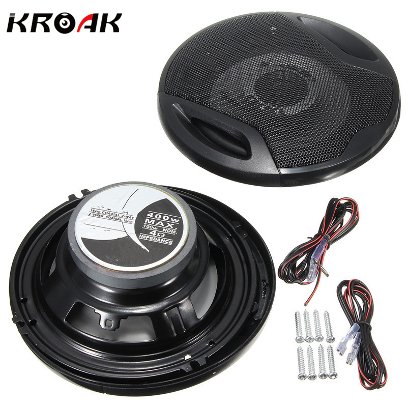 Universal 2X 6 Inch 12V 400W Car Subwoofer Max Iron Plastic 2-Way 2 Voice Coaxial Audio Car Speakers Car Sound ...