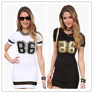 f2e4f90c376 2015 Women Summer Slim O-Neck Short Sleeve Bandage Casual Dress Sportswear  Printing Mesh Plus Size S-XXXL XJ023