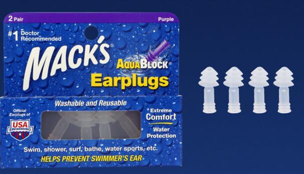 2Pairs Macks Professional Swim Earplugs Waterproof Swimming Earplugs Soundproof Anti Snore Ear Plugs 3