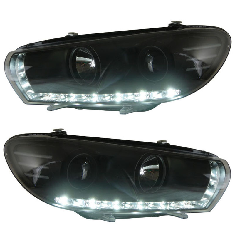 for VW Volkswagen Scirocco Projector Lens Headlight 2008- with LED line light Low beam focus light
