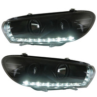 for VW Volkswagen Scirocco Projector Lens Headlight 2008 with LED line light Low beam focus light