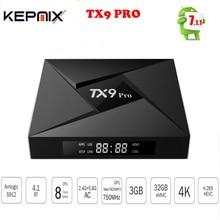 5 PCS TX9 Pro TV Box 3G RAM 32G ROM 4k smart google Amlogic S912 Octa-core CPU Android 7.1 OS
