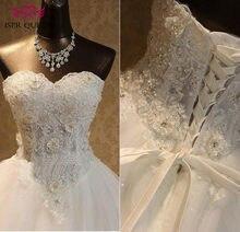 Vestido de novia con bordado de cuentas y hombros descubiertos, elegante, de encaje, Boda de Princesa, WX0093, 2020