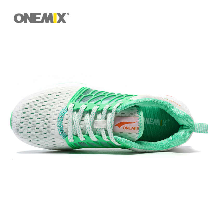 ONEMIX Woman Running Shoes For Women Mesh Soft Trainers White Zapatillas Sports Jogging Outdoor Walking Sneakers Free Ship 5.0