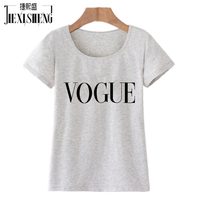 2016 Punk Style Summer Tshirt Harajuku Tumblr VOGUE Letter Printed T Shirt Women Tops Blusa